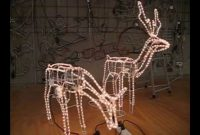 Christmas Lighting Show Display 2 Large Reindeer 3d Model With intended for dimensions 1280 X 720
