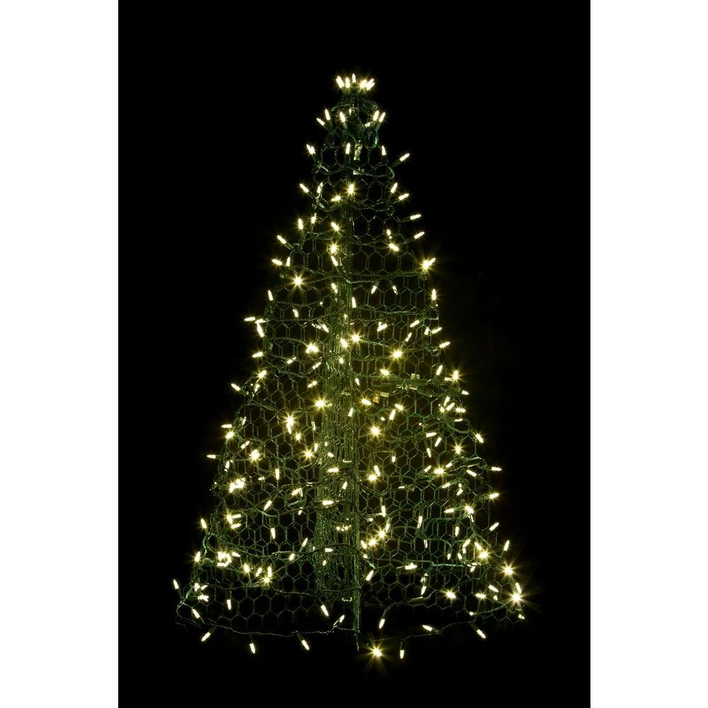 Crab Pot Trees 3 Ft Pre Lit Led Green Artificial Christmas Tree for size 1000 X 1000