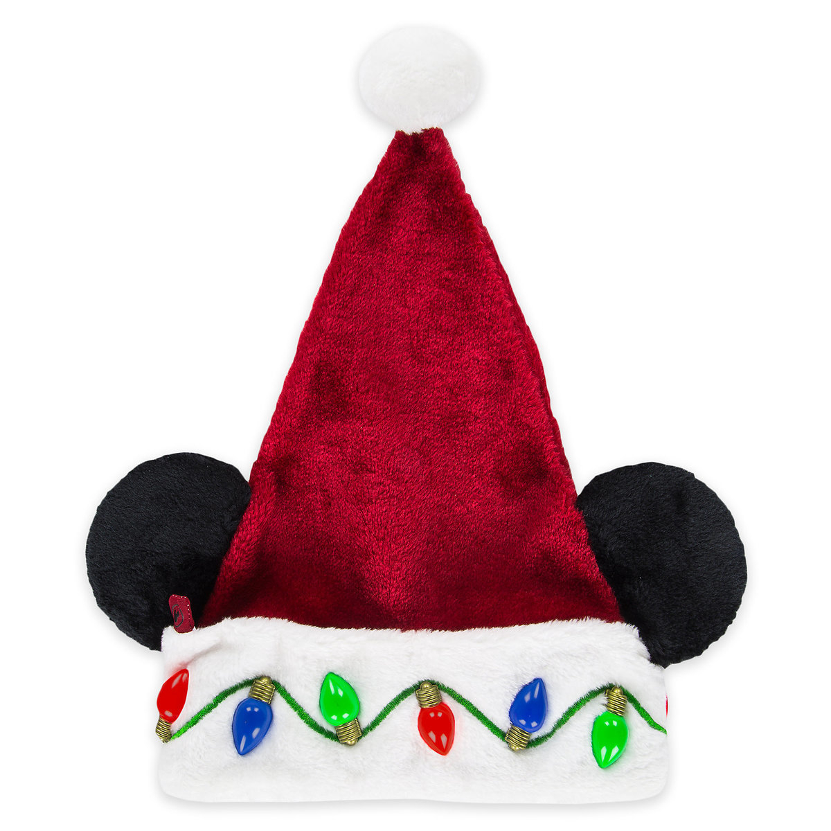 Disney Santa Christmas Holiday Hat Mickey Mouse Light Up throughout size 1200 X 1200