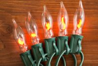 Flickering Flame String Lights 50 Outdoor C7 Bulbs Green Wire inside dimensions 1000 X 1000