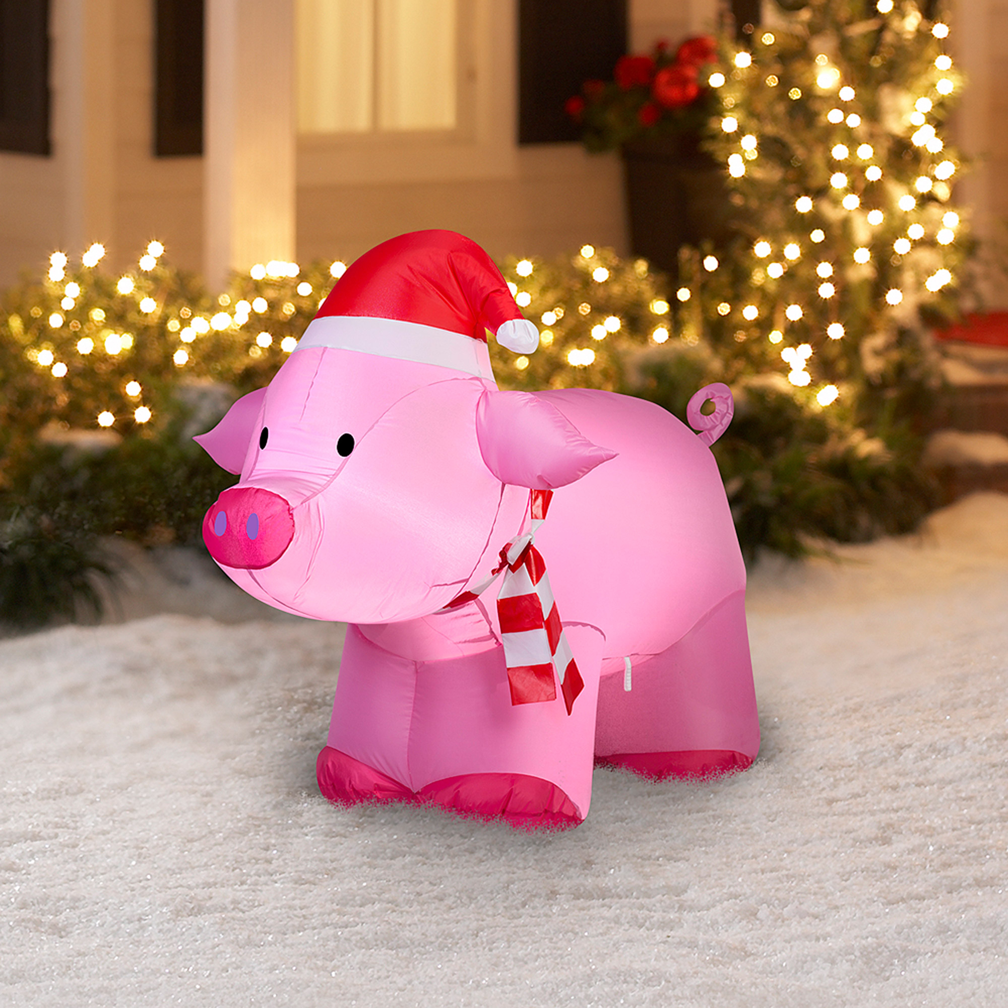 Gemmy Airblown Inflatable 3 Pig Christmas Decoration Walmart for sizing 2000 X 2000