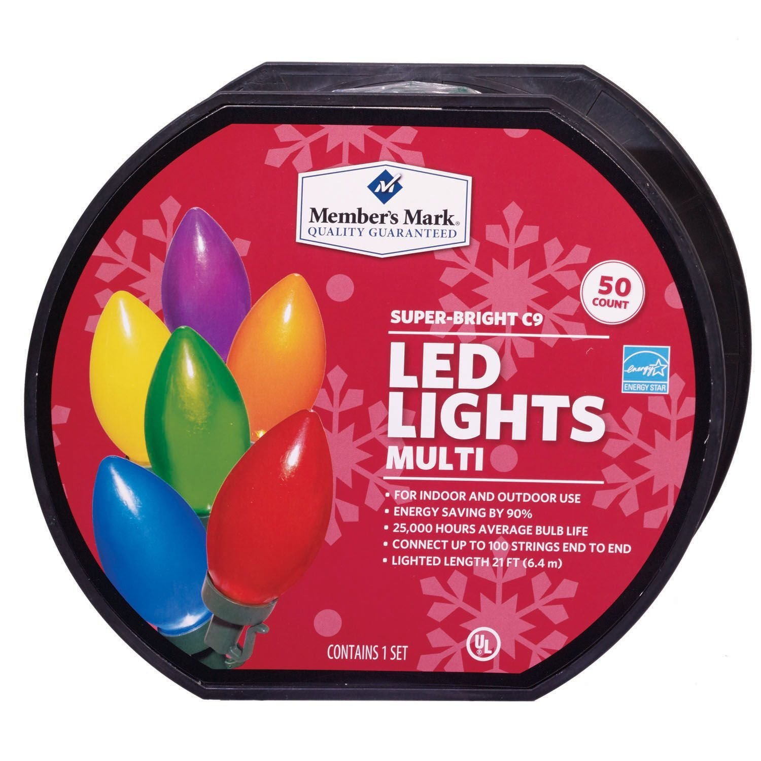 Members Mark Super Bright Led Christmas Lights Multi Colored 50 within proportions 1500 X 1500