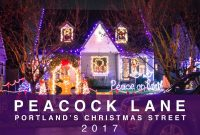 Peacock Lane Portland Oregon Christmas Lights 2017 Sony A6000 within size 1280 X 720