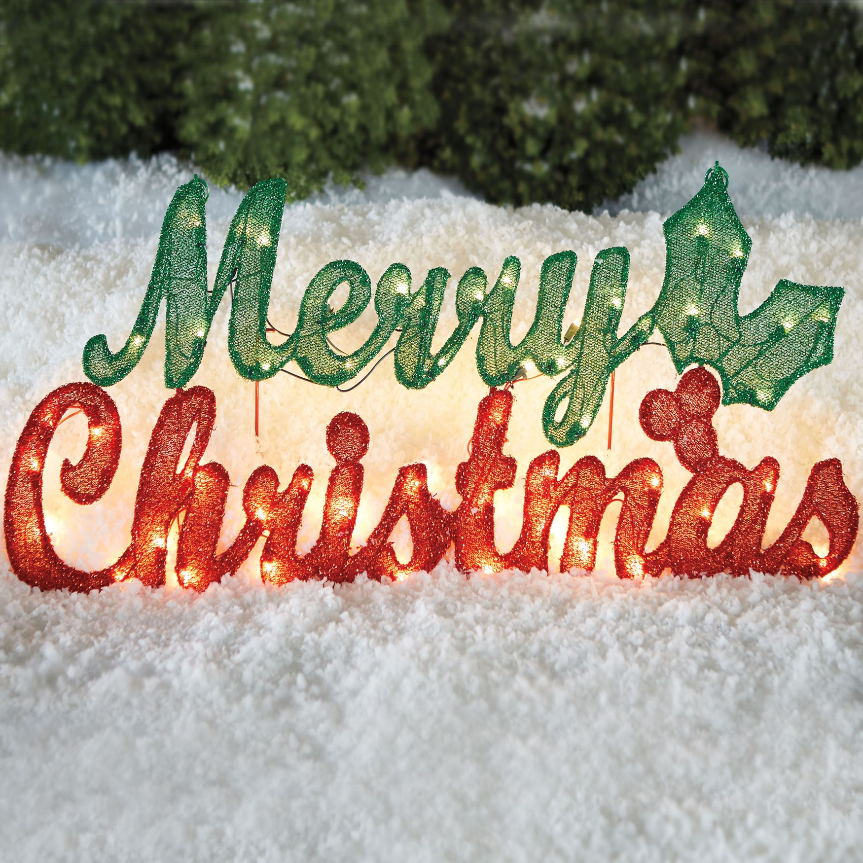 Pre Lit Merry Christmas Sign Plus Size Outdoor Christmas Lighted with regard to dimensions 1750 X 1750