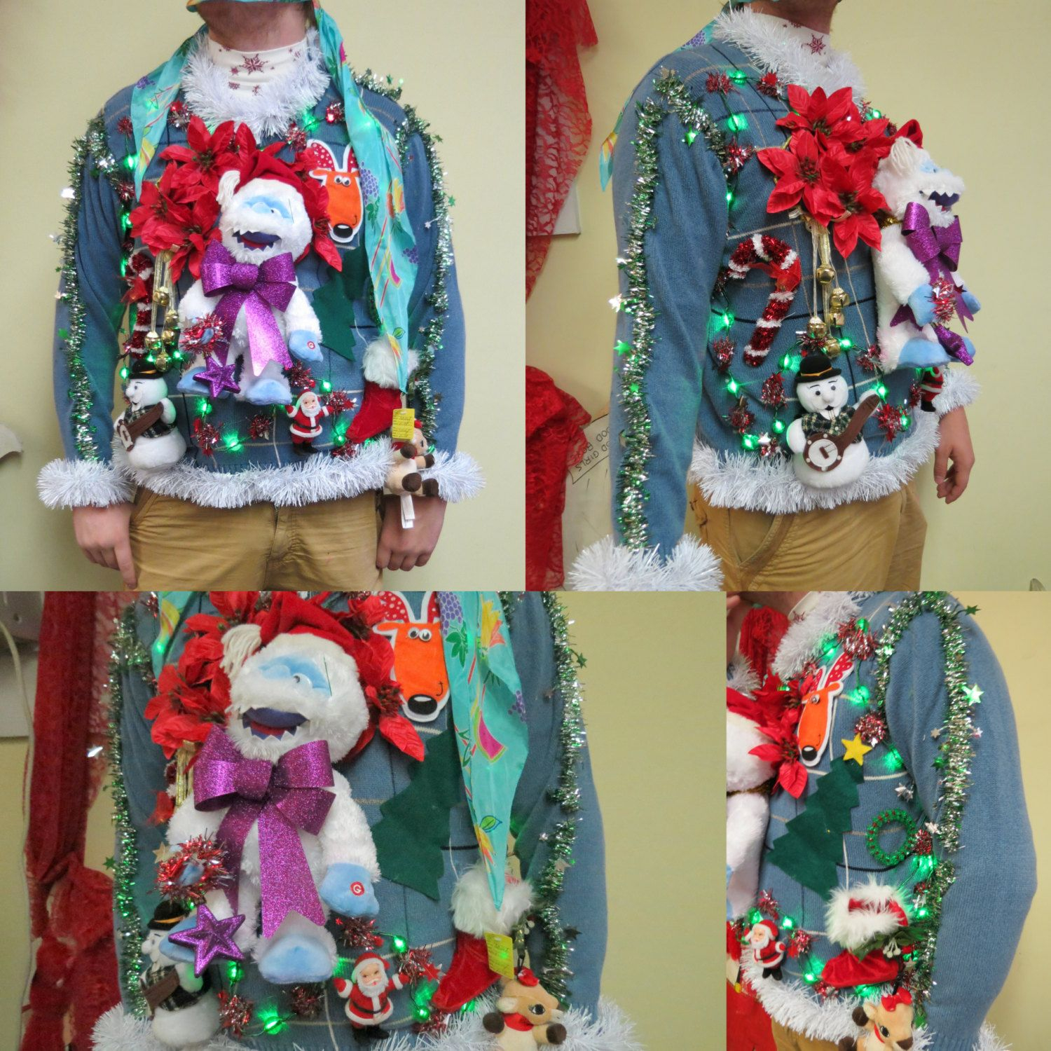Ugly Christmas Sweaters That Light Up And Sing Christmas
