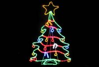 Rope Light Silhouettes Led Christmas Tree With Decorations 12m inside measurements 1280 X 720