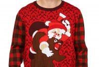 Santa Vs Bear Ugly Christmas Sweater within size 1750 X 2500
