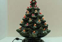 Small Vintage Ceramic Christmas Tree Light Up Base Faux Plastic within sizing 942 X 966