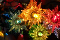 Vintage Multi Colored Christmas Tree Star Lights With Foil Star with regard to proportions 1500 X 1125